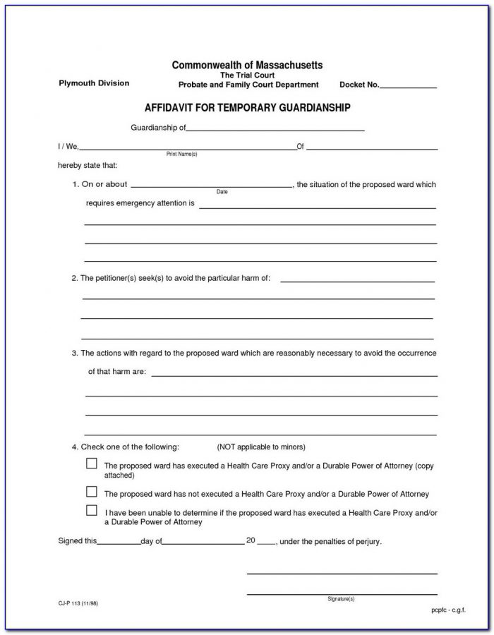 Guardianship Forms In Texas Free