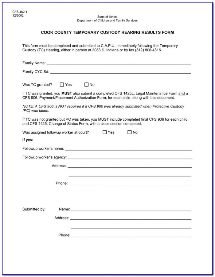 Guardianship Registry Form Indiana