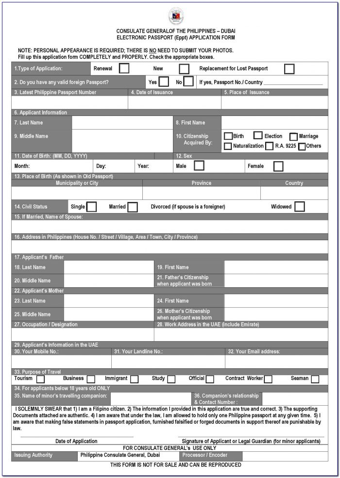 Guyana Passport Renewal Form Trinidad