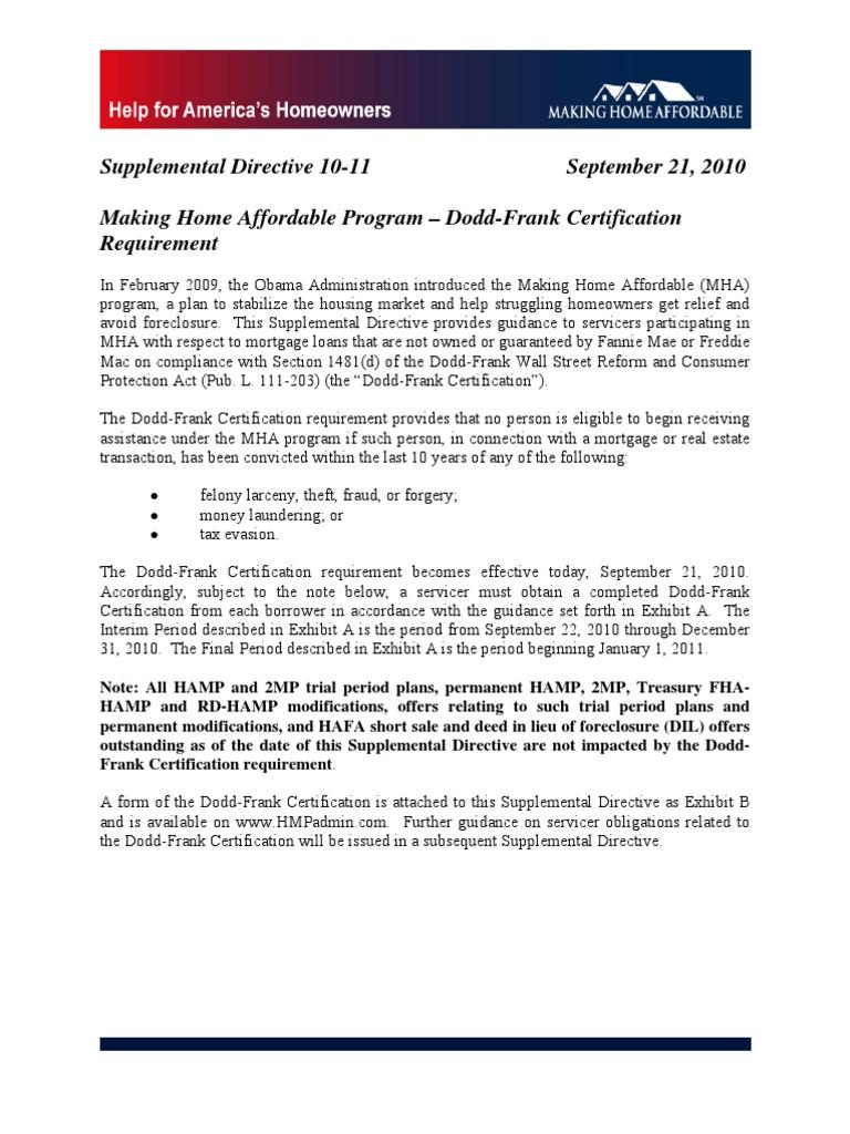 Hamp Program Application Forms