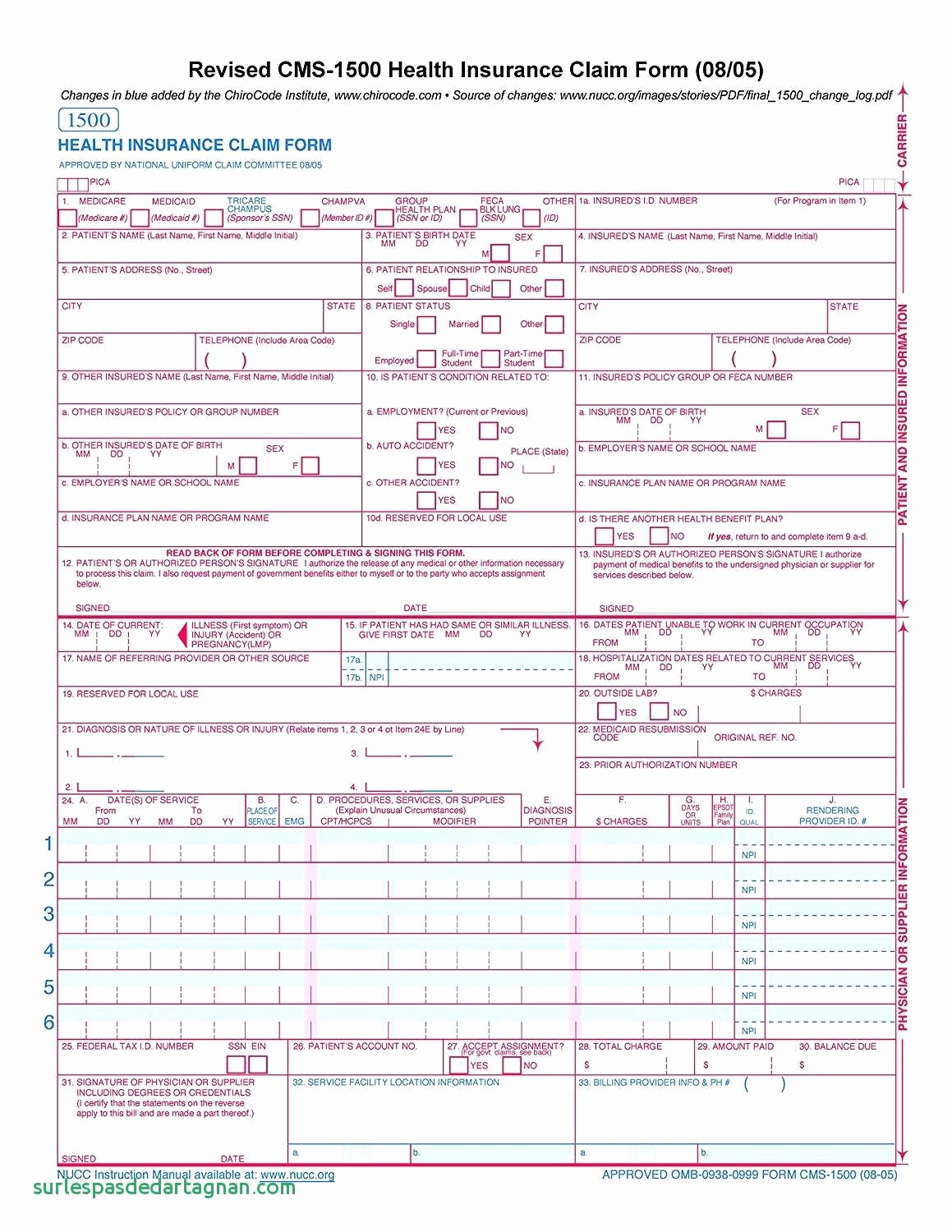 Cms 1500 Claim Form Template New Hcfa Forms Lovely Top Result Free Cms 1500 Claim Form Template Best