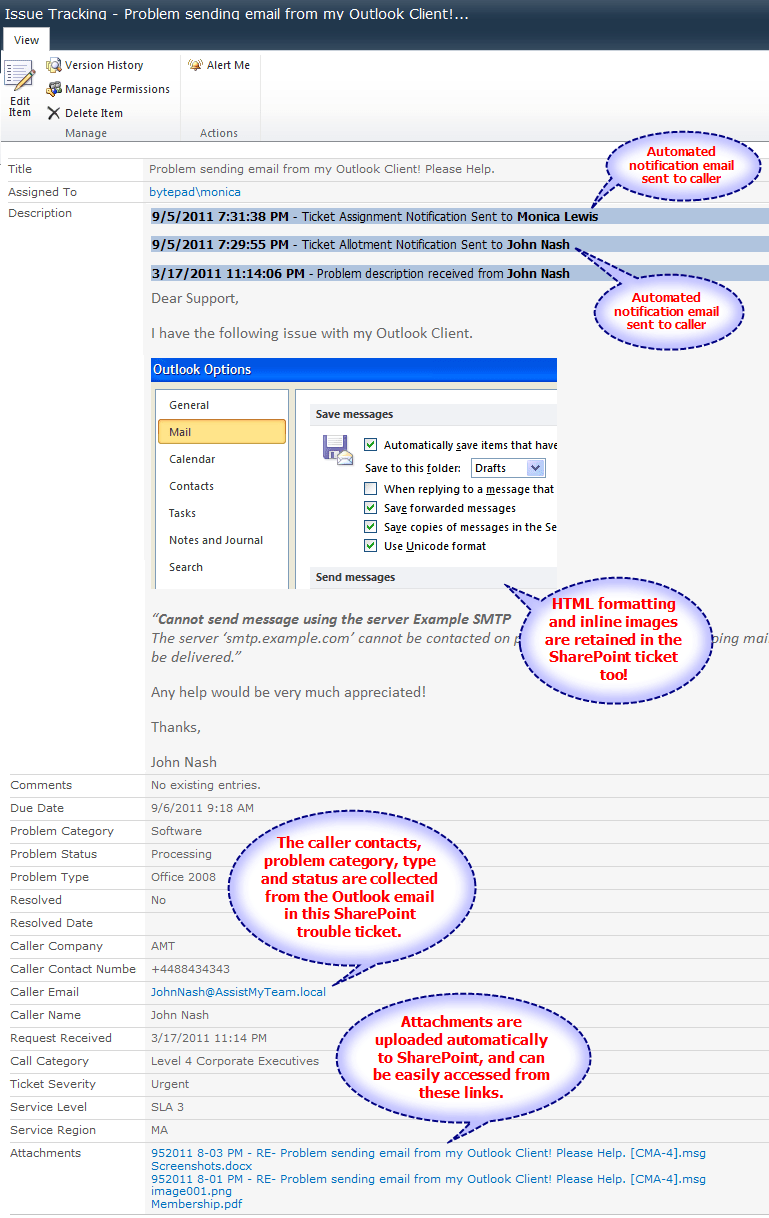 Help Desk Trouble Ticket Form
