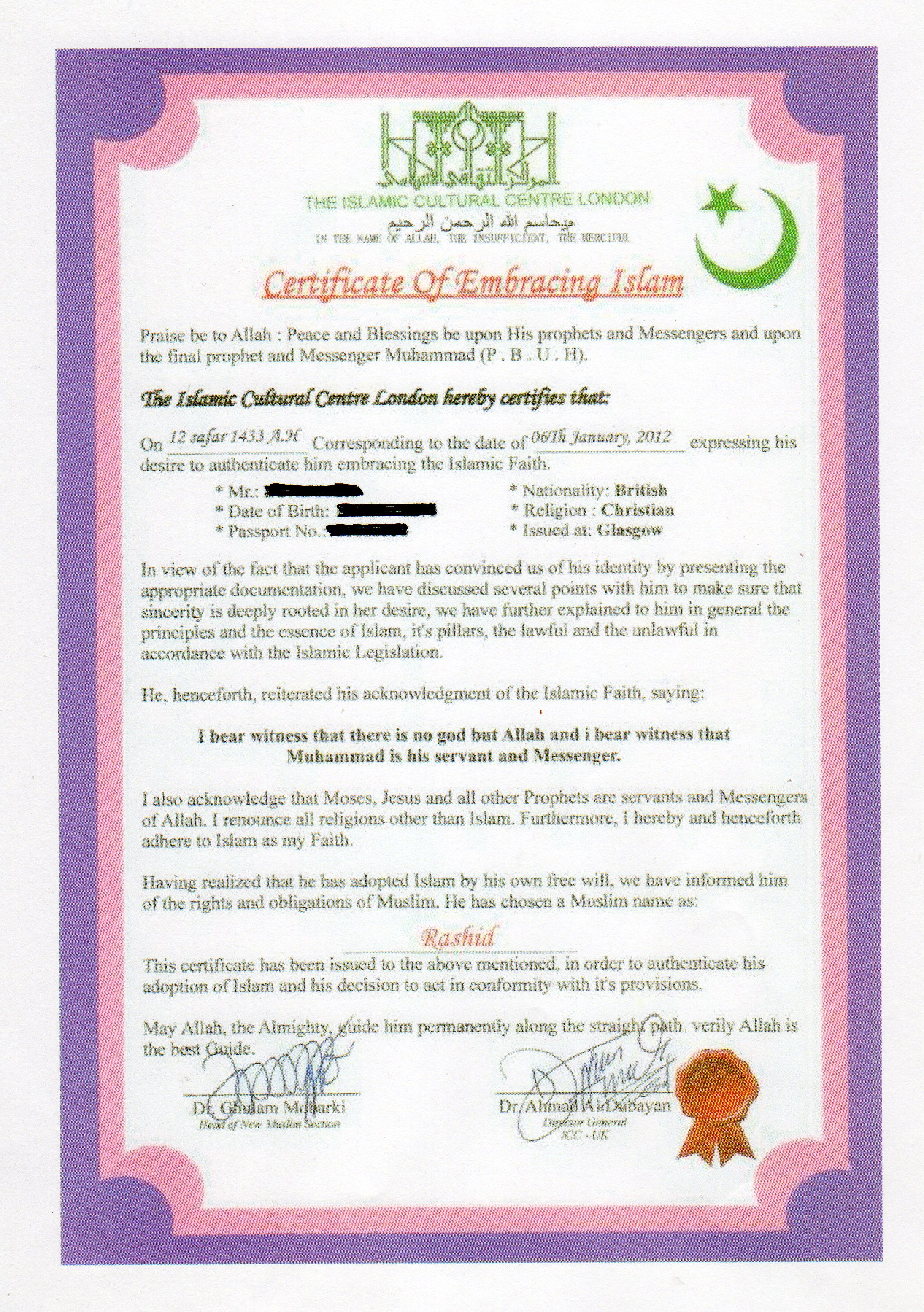 Hindu Muslim Marriage Registration Form