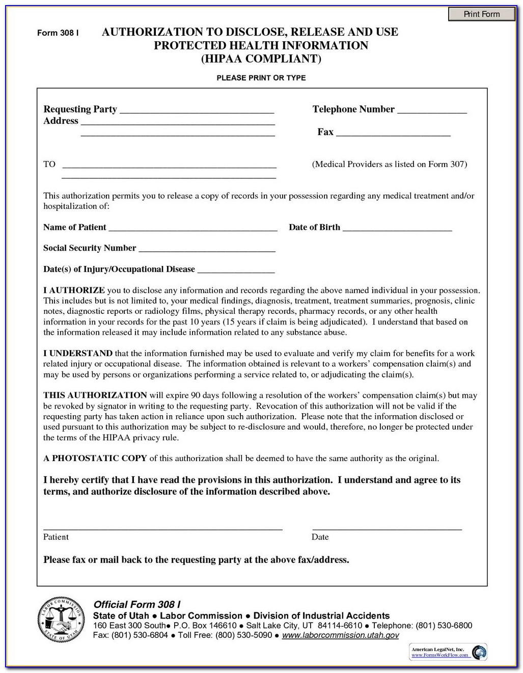 Hipaa Compliance Form For Employees