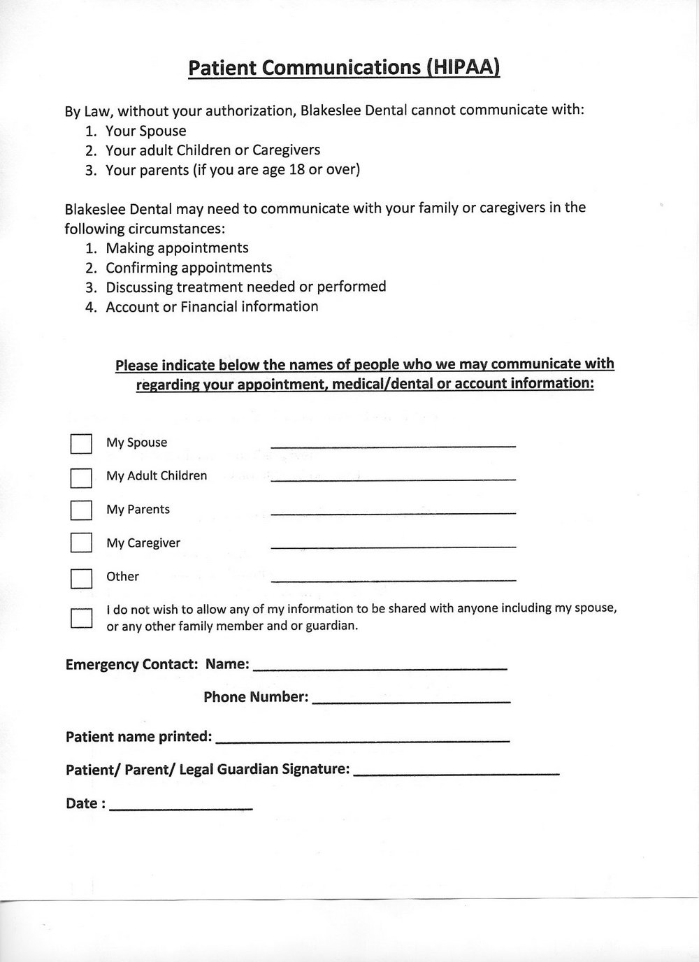 Hipaa Compliant Medical Release Form Florida