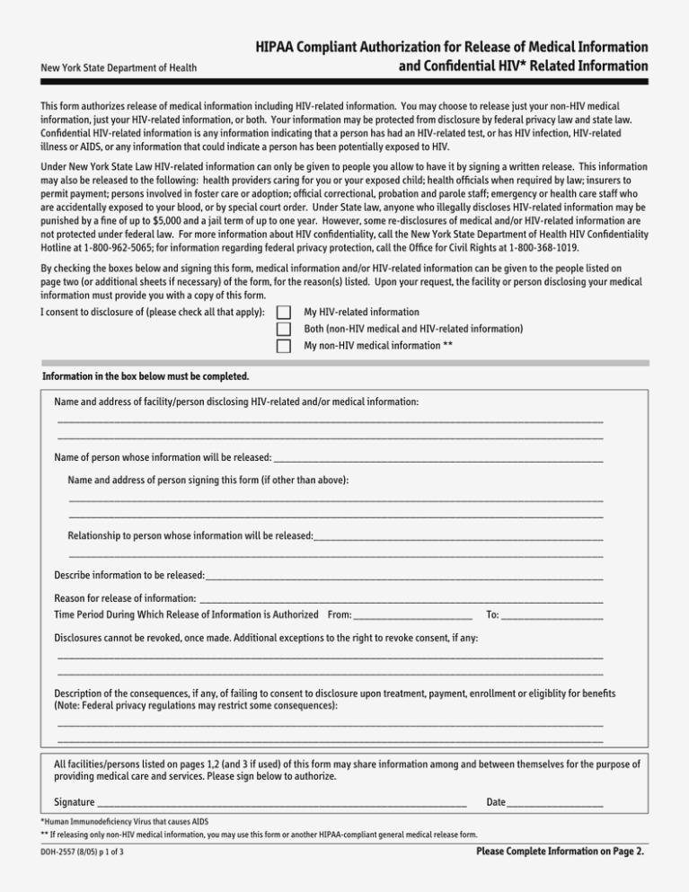 Hipaa Compliant Release Form