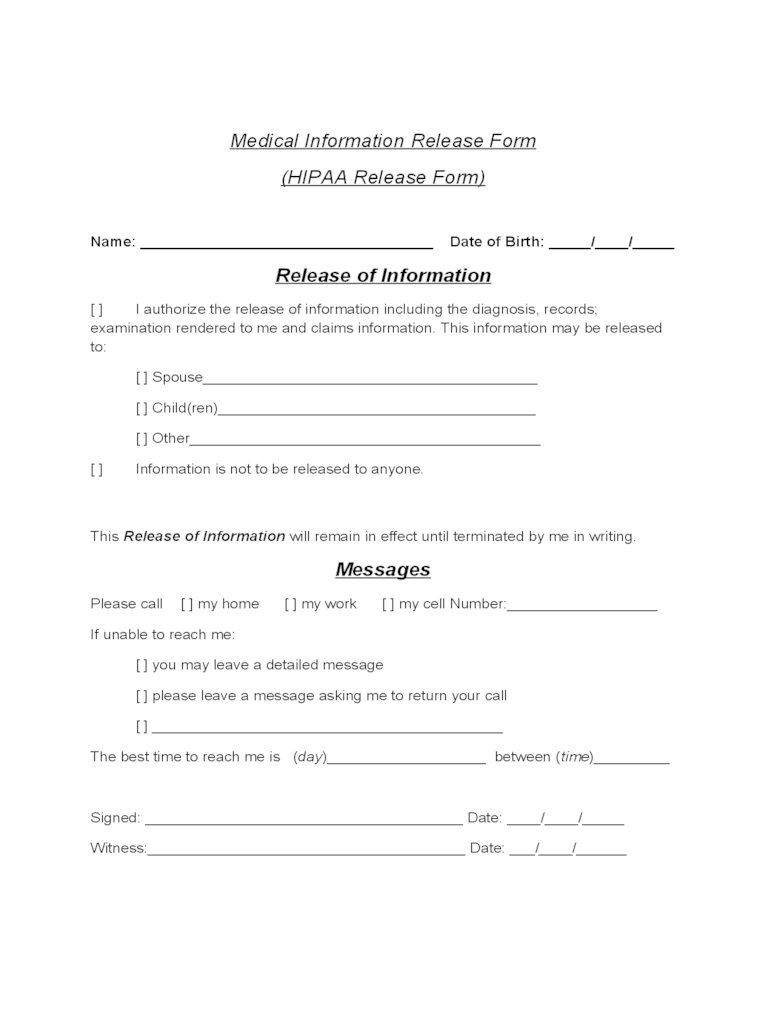 Hipaa Privacy Authorization Form California