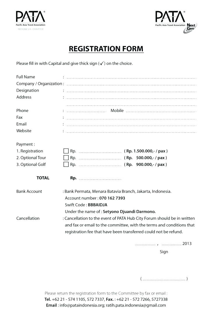 Hotel Guest Registration Form Template Word