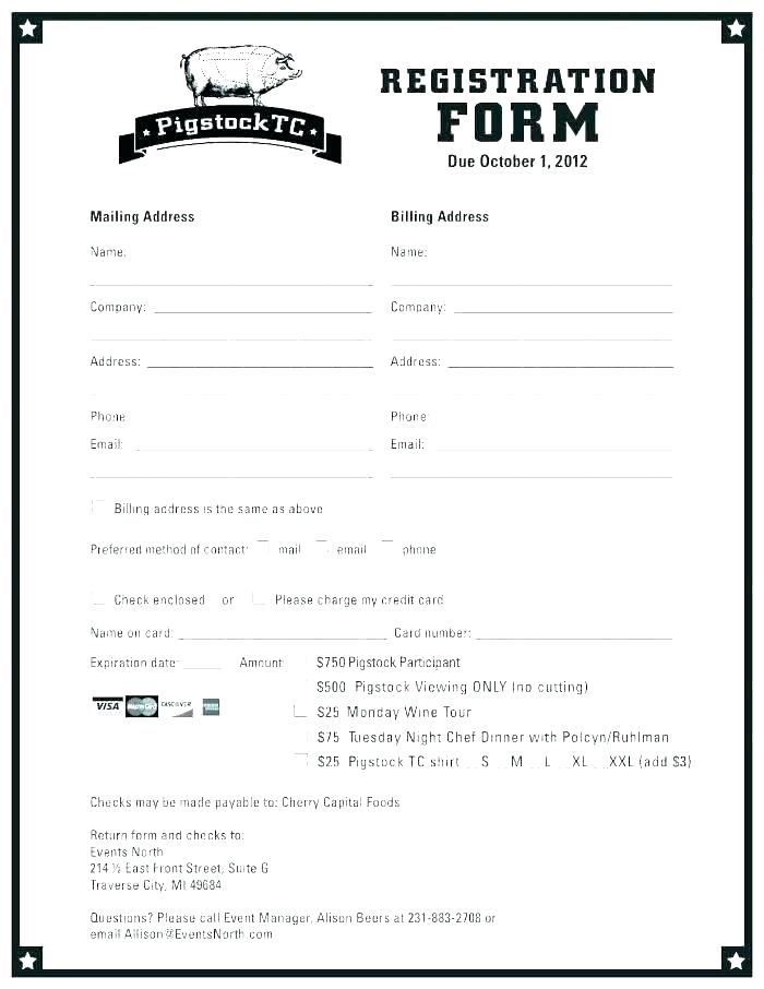 Hotel Guest Registration Form Template