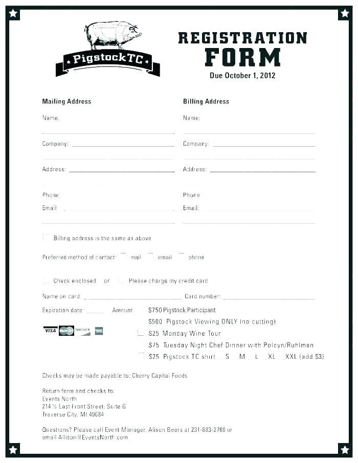 Hotel Guest Registration Form Template