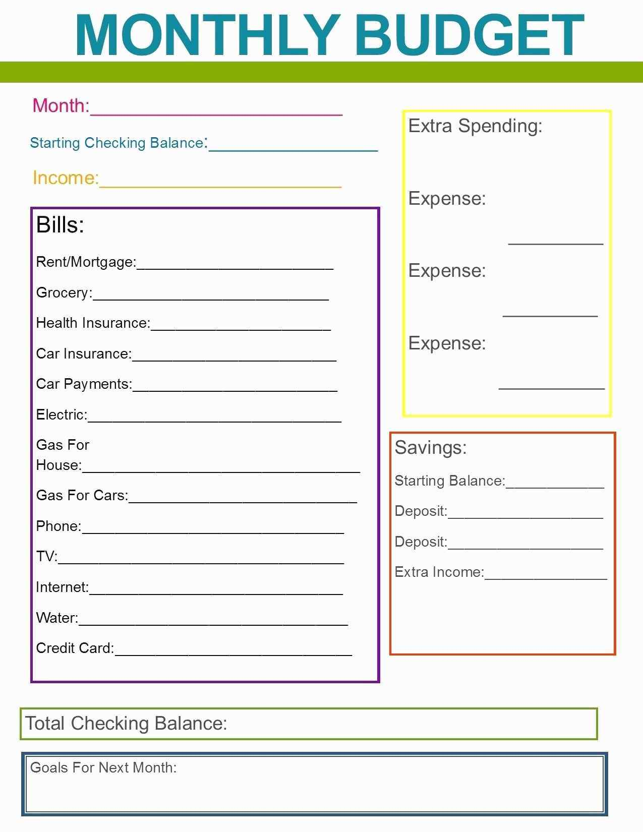 Annual Household Budget Template Unique Simple Home Bud Worksheet Fresh Simple Home Bud Worksheet New