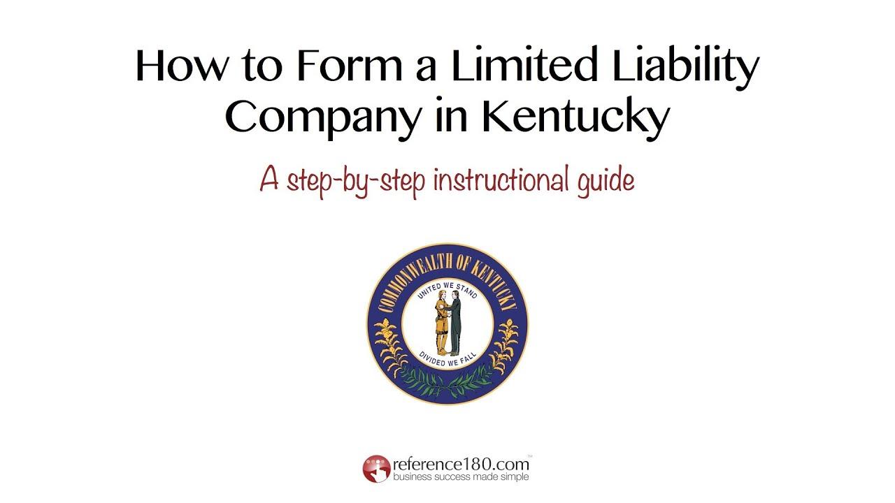 How Do I Form An Llc In Kentucky