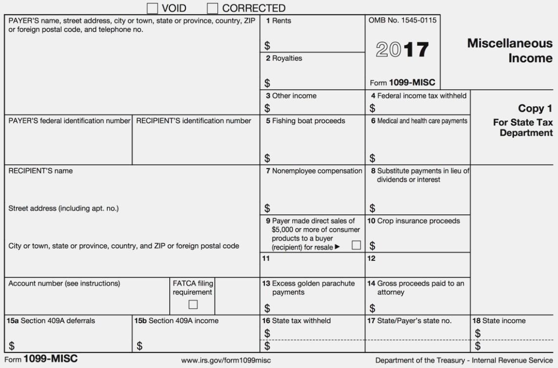 How To File A 1099 Misc Form Online