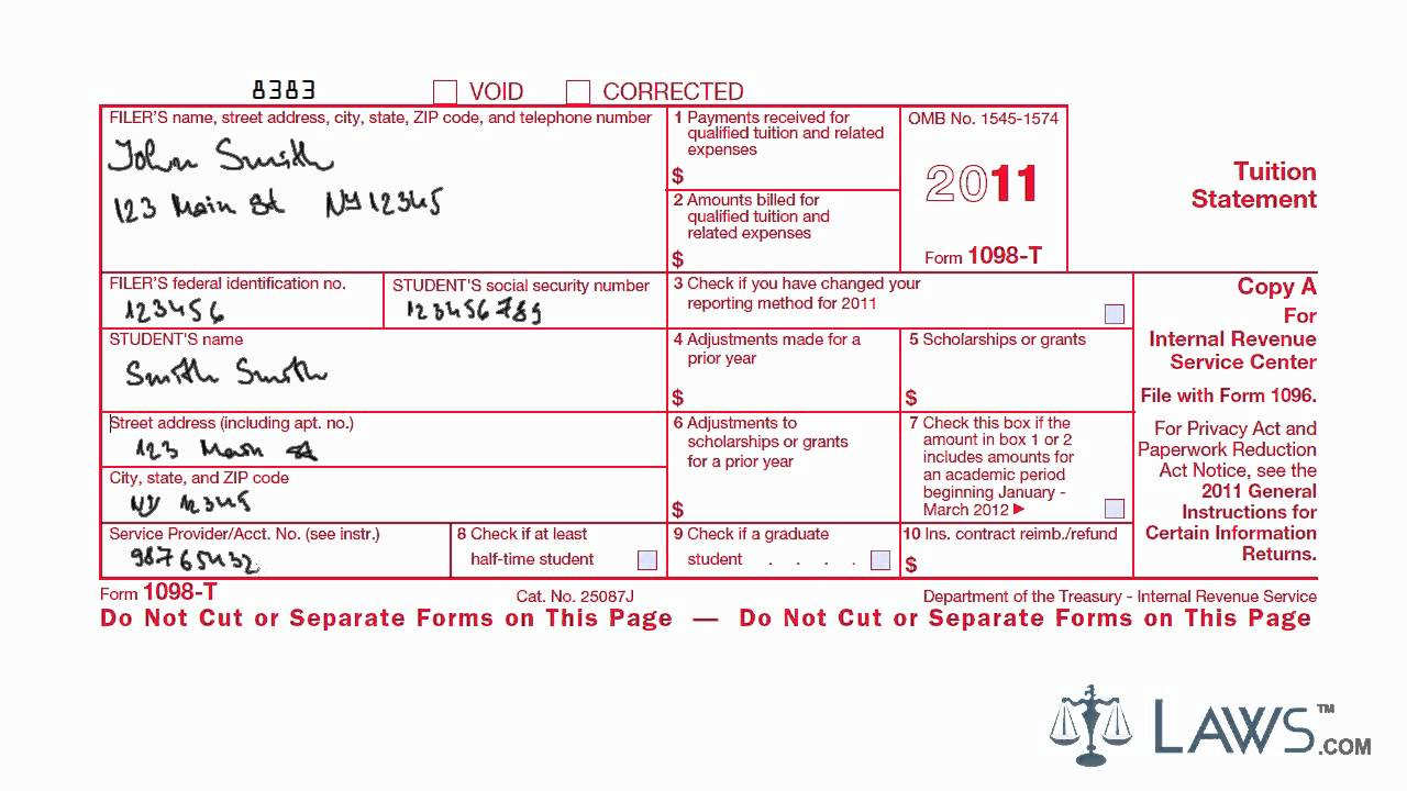 How To File Form 1098 On Taxes