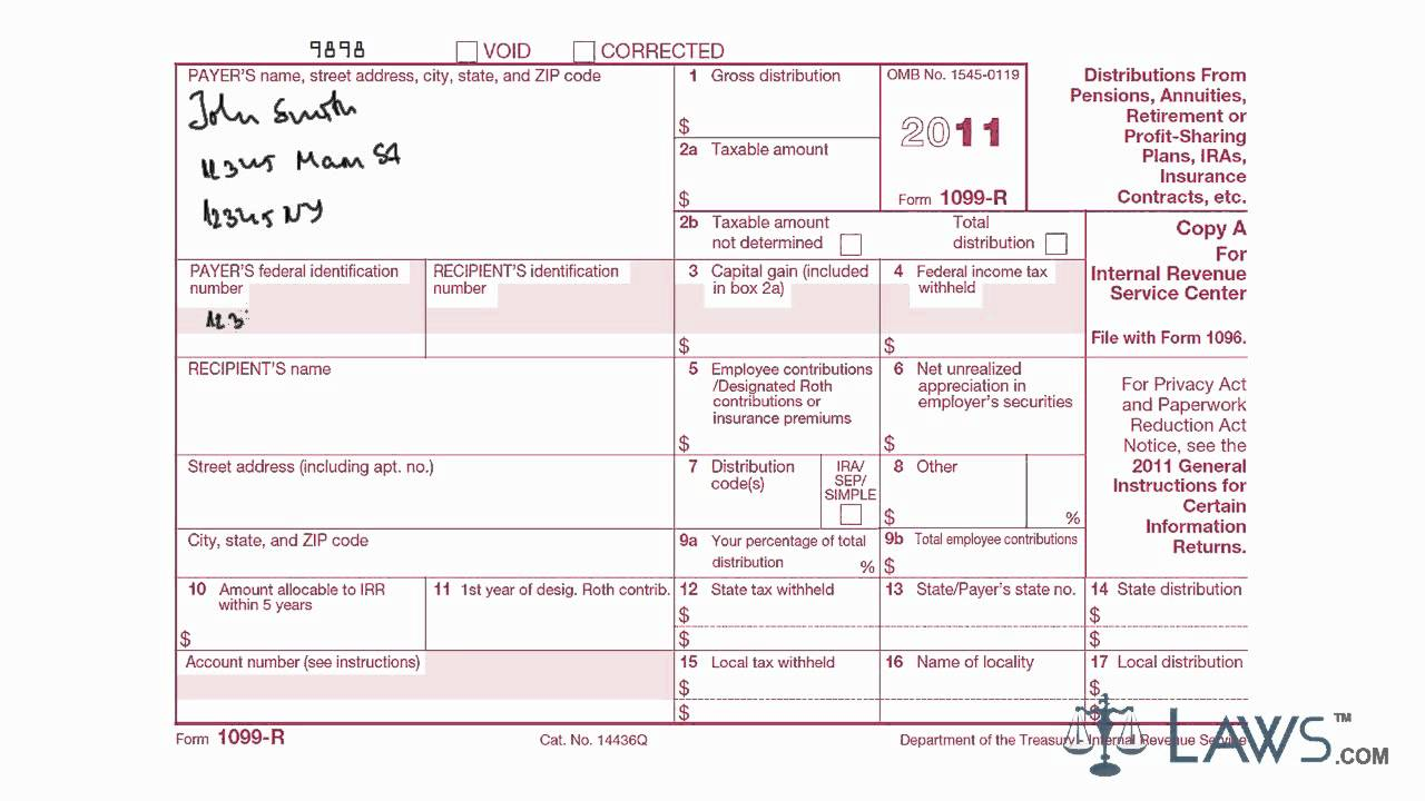 How To Fill Out A 1099 B Form