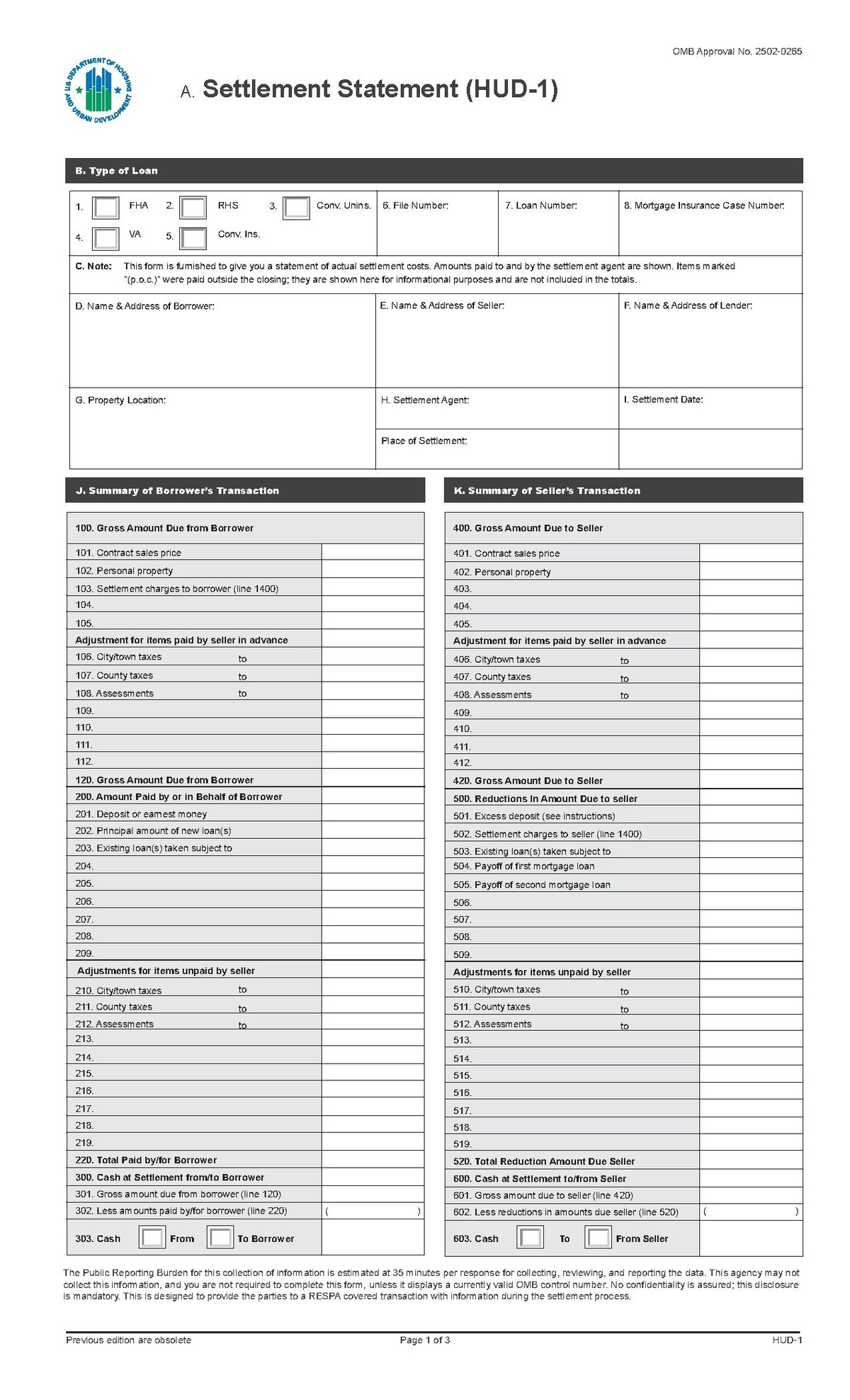 How To Fill Out A Preliminary Hud 1 Form