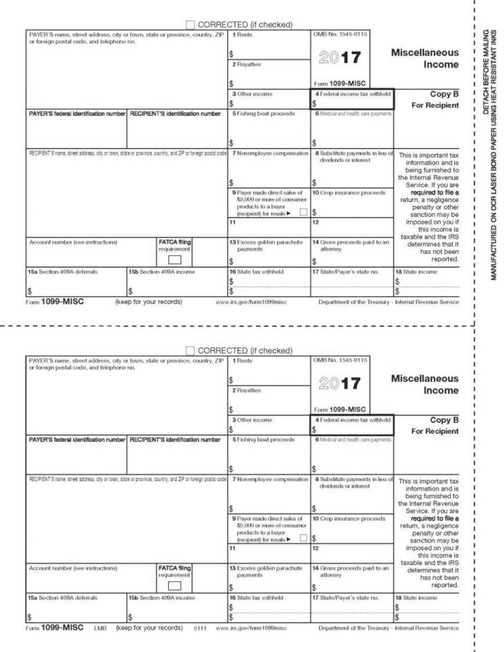 How To Fill Out Irs Form 1099 Misc