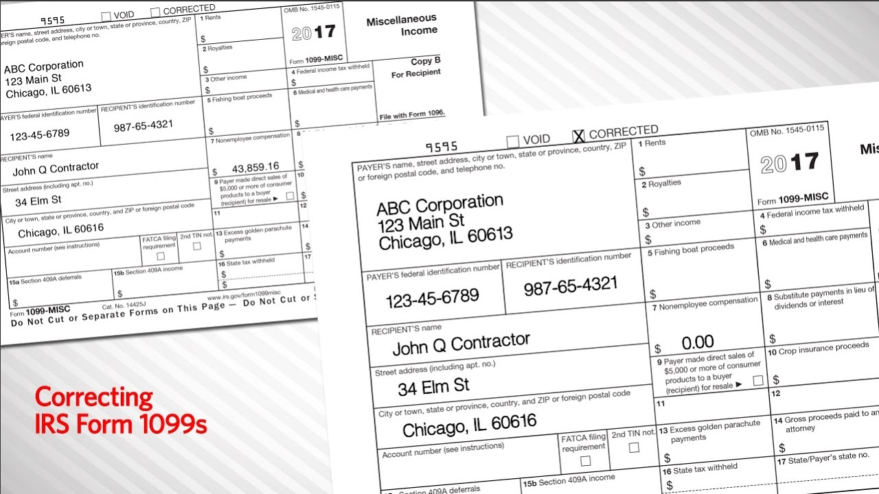 How To Fill Out Substitute Form 1099 S