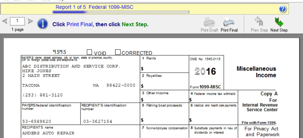 How To Print 1099 And 1096 Forms In Sage 100