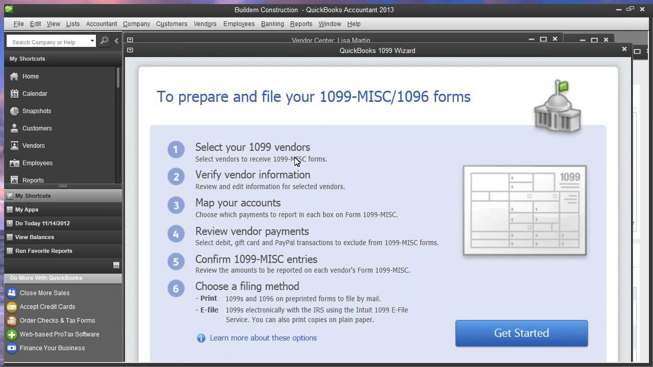 How To Print 1099 Forms In Quickbooks 2016