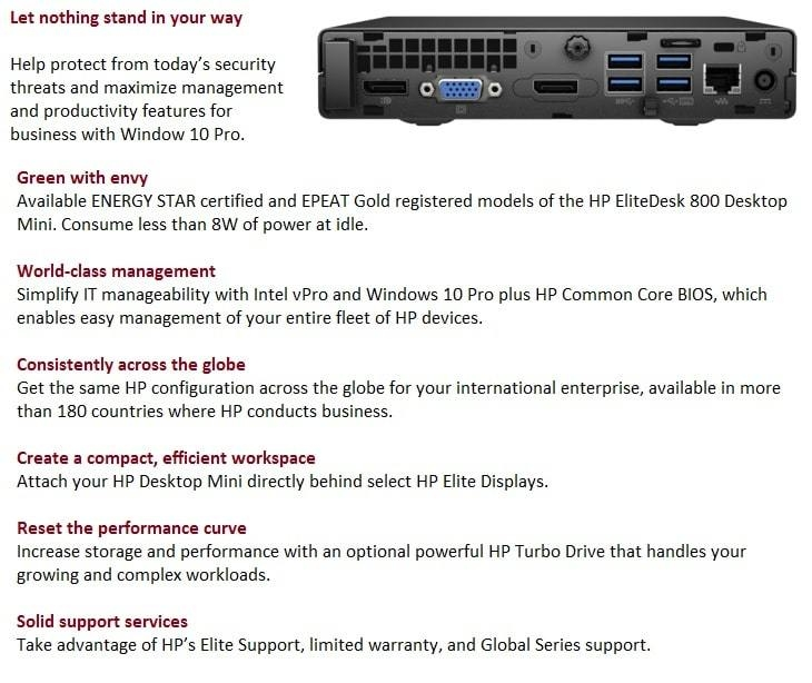 Hp Elitedesk 800 G2 Small Form Factor Business Pc