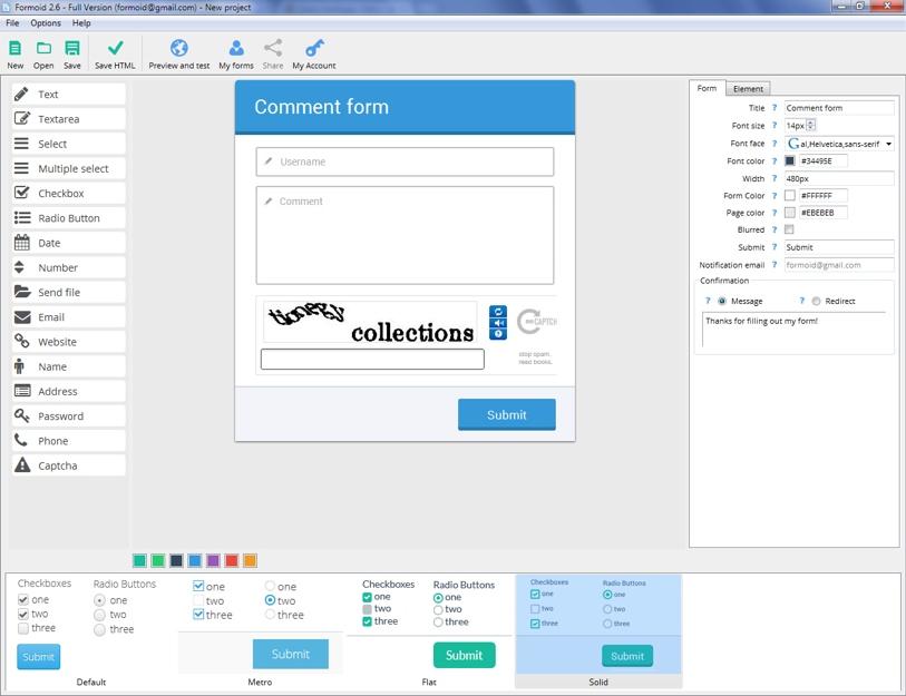 Html5 Form Designer Online