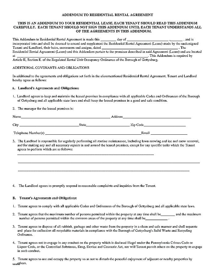 Hunting Lease Forms Free