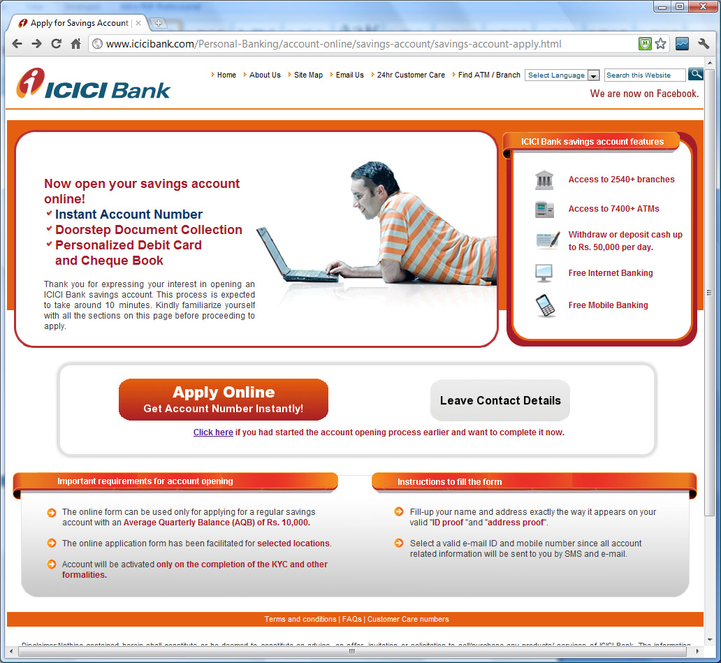 Icici Bank Account Opening Formalities
