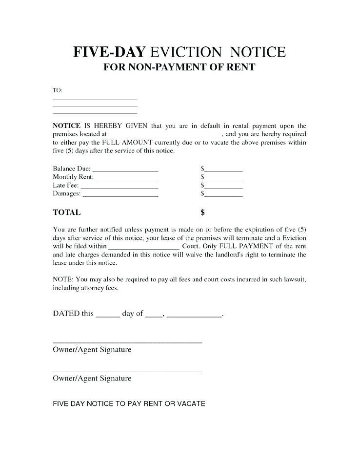 Illinois Five Day Eviction Notice Form
