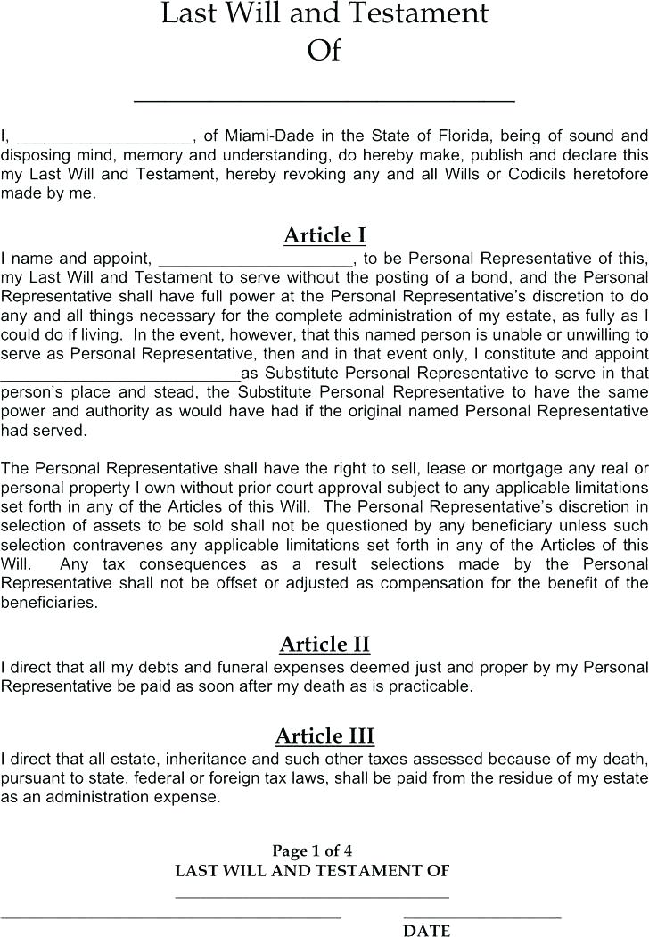 Illinois Last Will And Testament Form Pdf