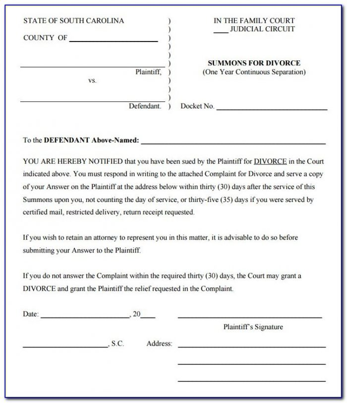 Illinois Legal Separation Document