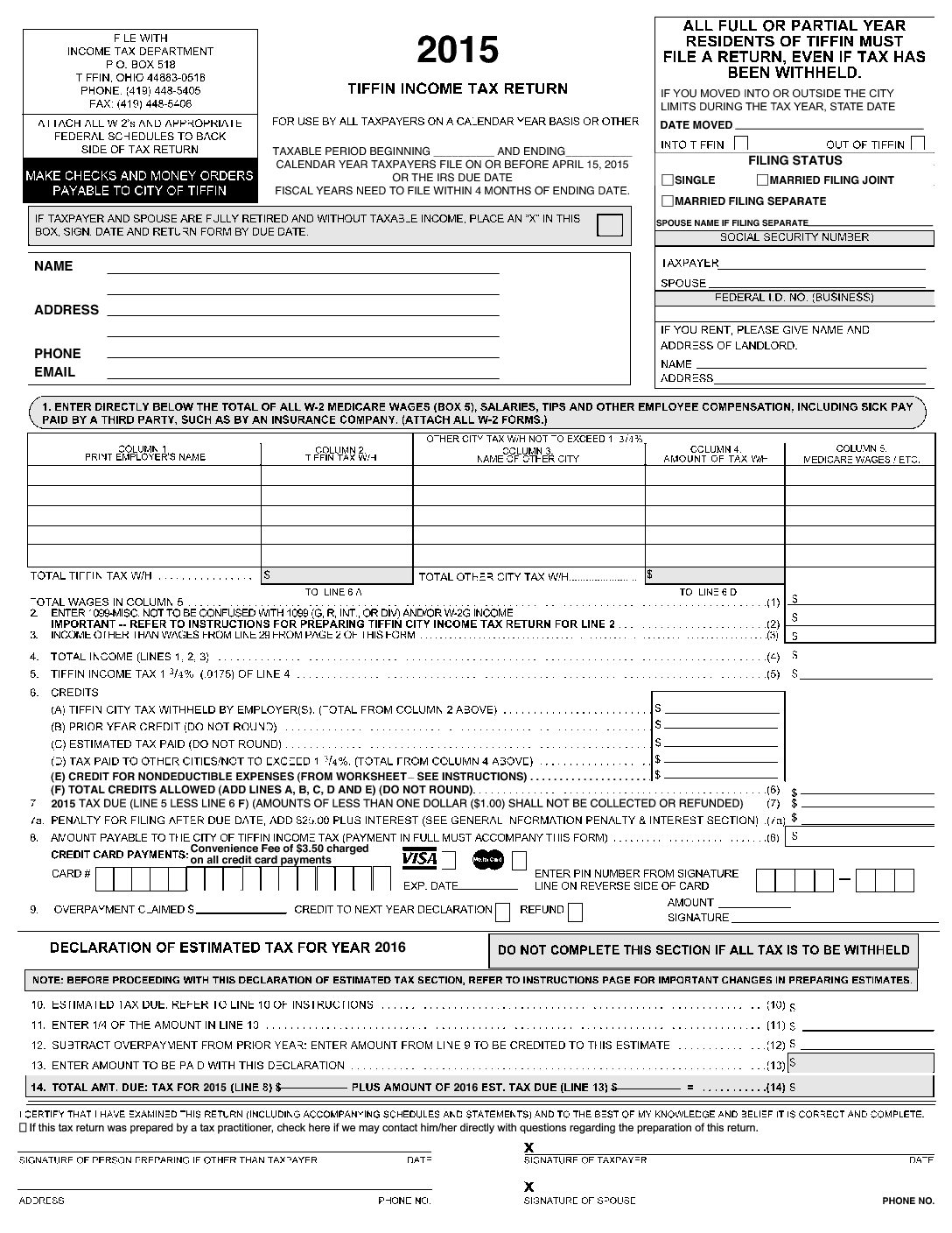 In.gov Tax Forms 2016
