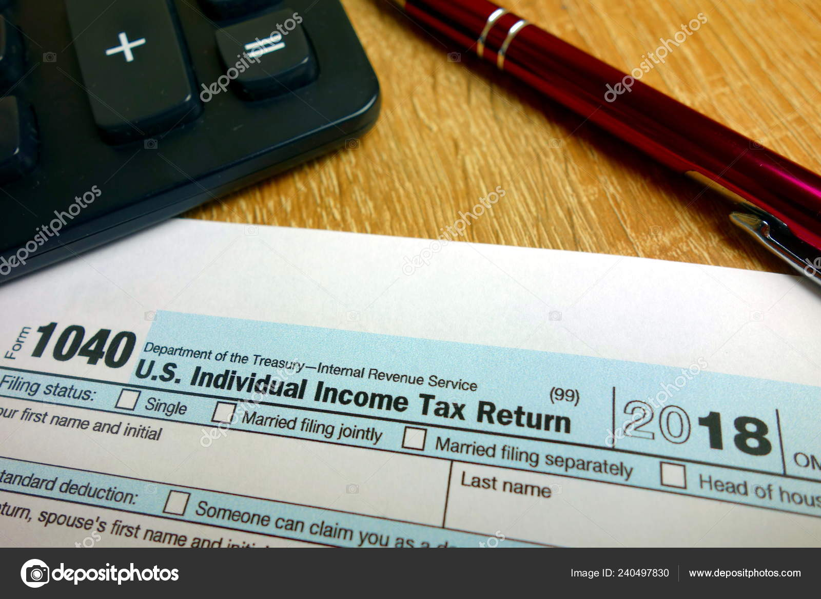 Income Tax Calculation Blank Form