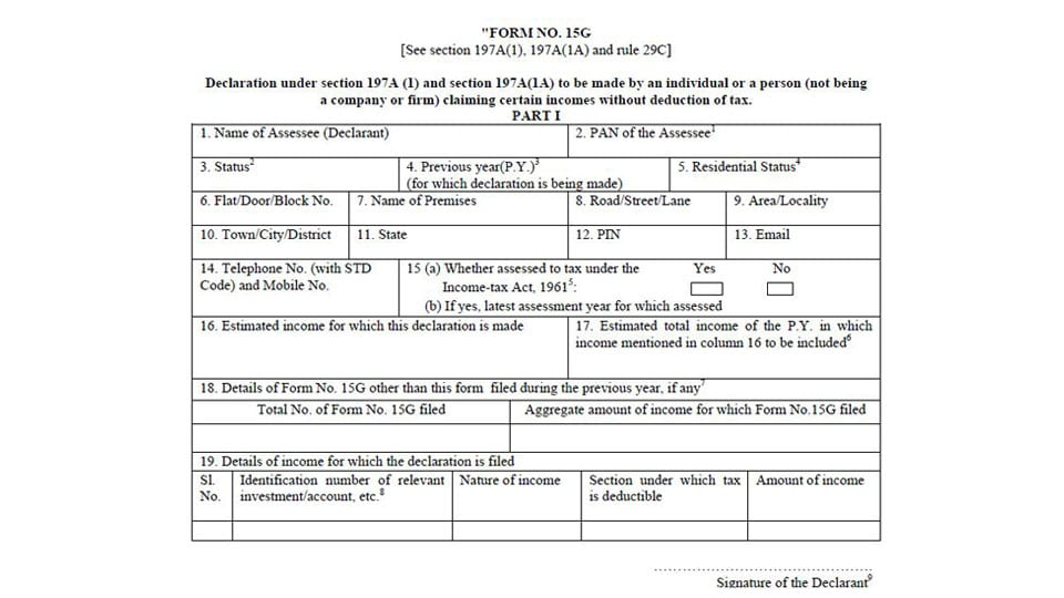 Income Tax Filing Form For Pensioners
