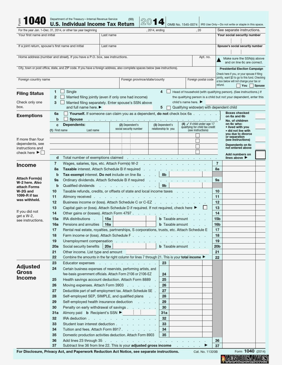Income Tax Form 1099 C