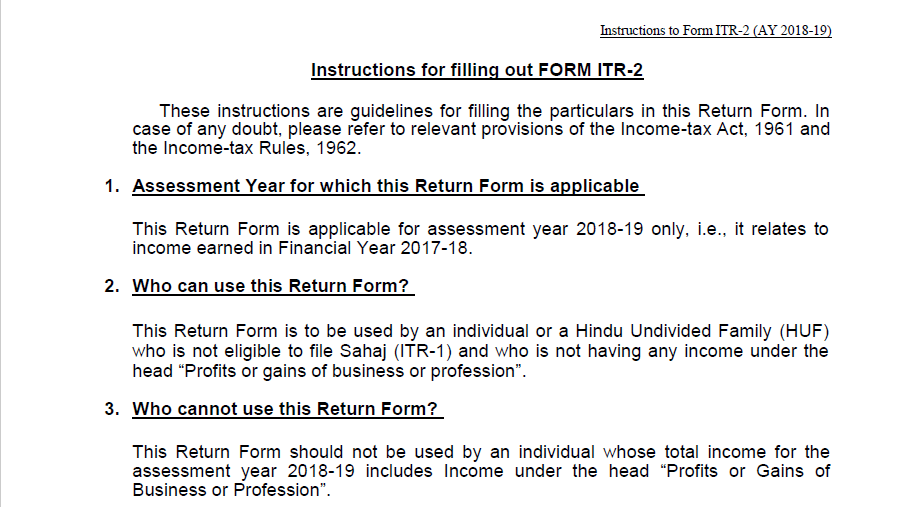 Income Tax Return Form 2018 19 Pdf