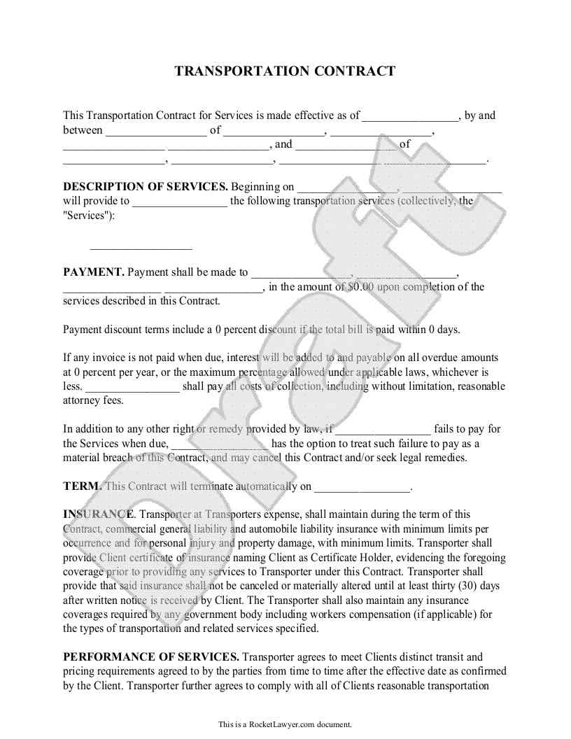 Independent Contractor Agreement Form Colorado