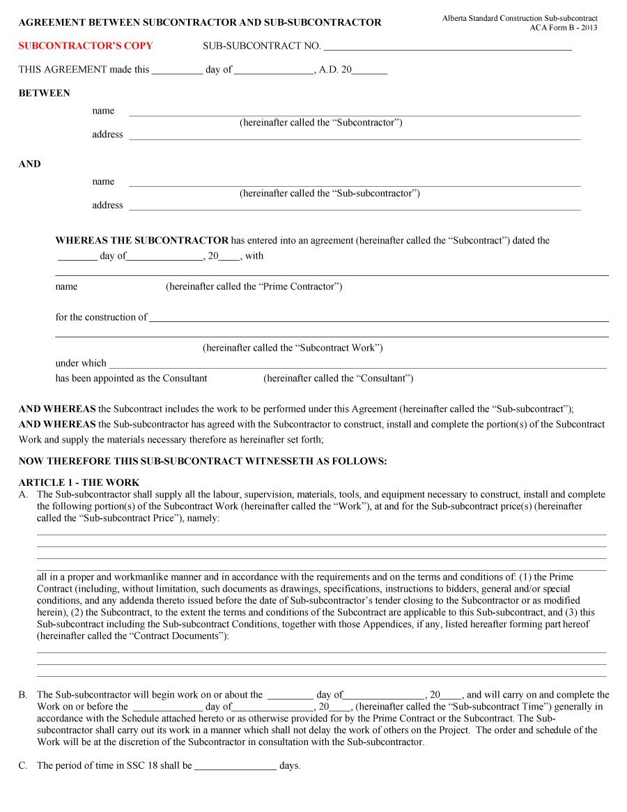 Independent Contractor Agreement Form Florida
