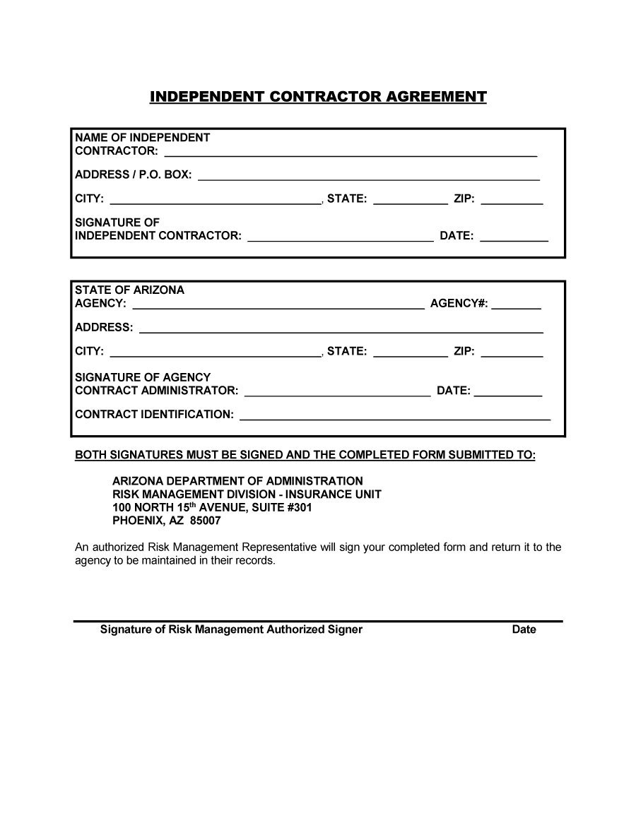 Independent Contractor Agreement Form Tennessee