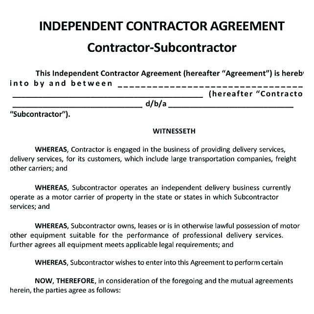 Independent Contractor Forms California