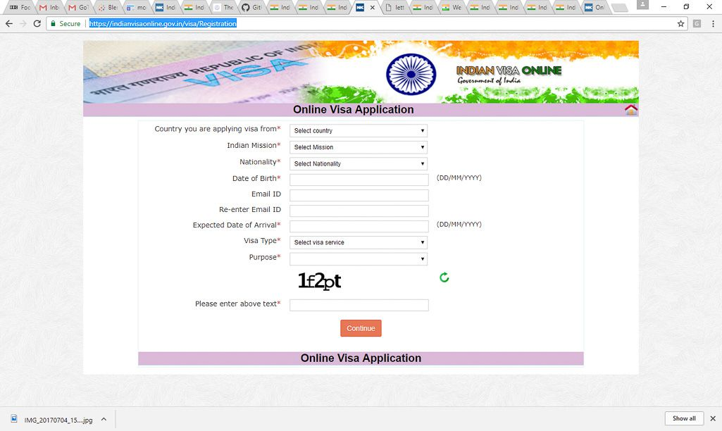 Indian Tourist Visa Application Form Edinburgh