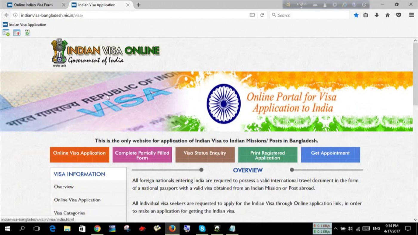 Indian Visa Application Form For Bangladeshi Citizen