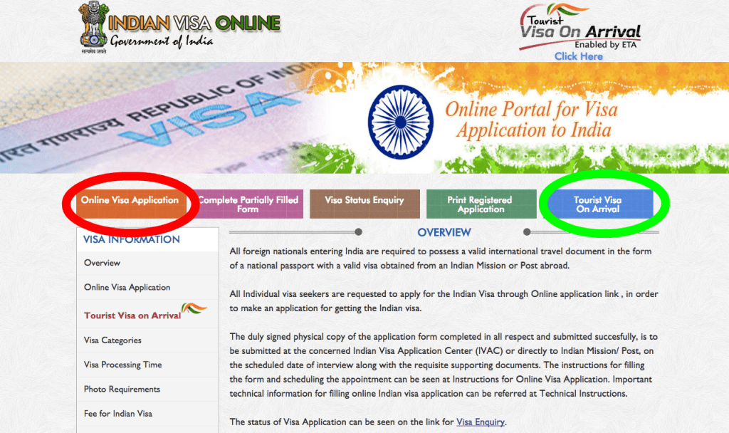 Indian Visa Application Form Toronto