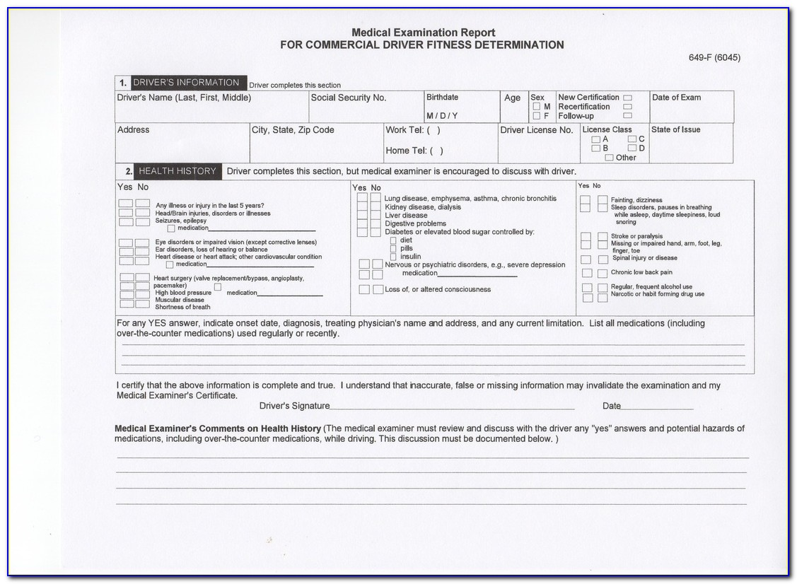 Indiana Dot Medical Forms