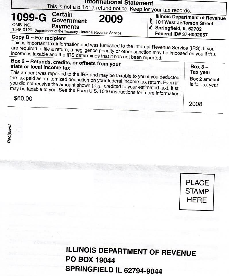 Indiana Form 1099 G