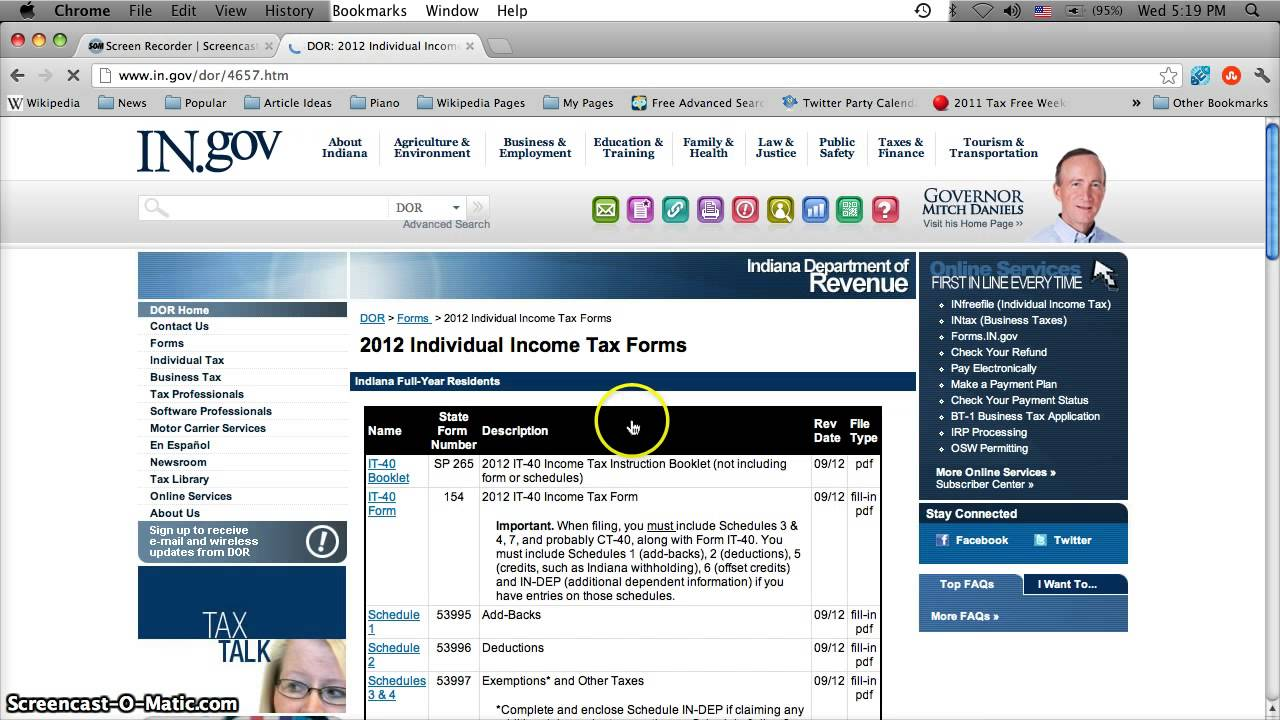 Indiana Tax Forms Printable