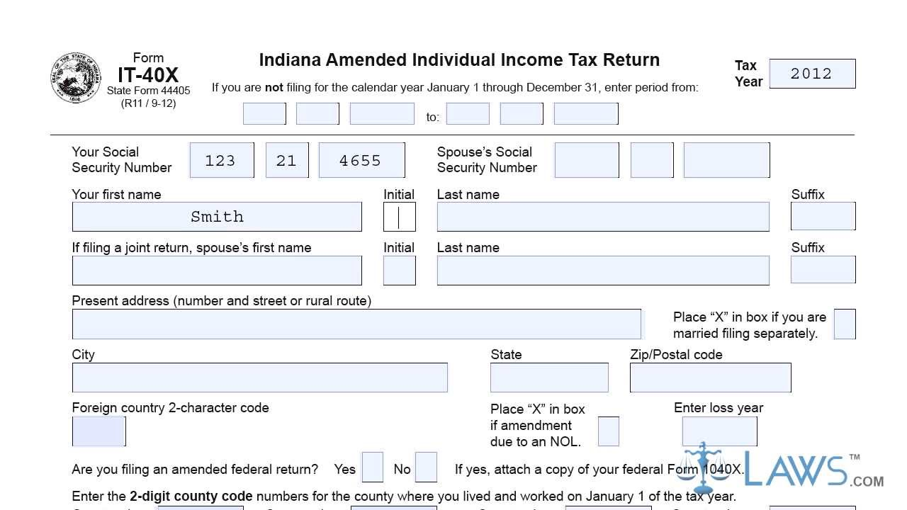Indiana.gov Tax Forms