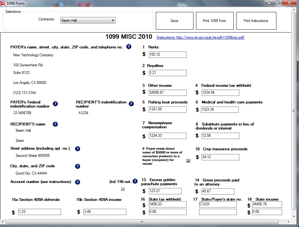 Instructions On How To Fill Out A 1099 Form