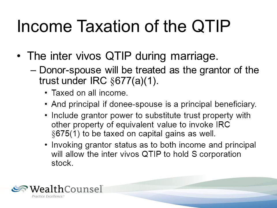 Inter Vivos Qtip Trust Form