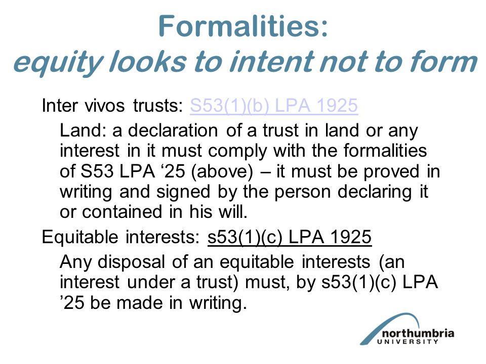 Inter Vivos Trust Formalities
